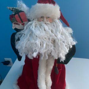 Vintage old world Santa Claus Doll Centerpiece